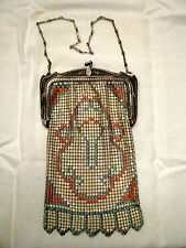 Davis and Whiting Antique Mesh Purse Orig Box Paper Tag and Receipt  '30's ?