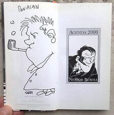 Tardi Dédicace signée encre de Chine Nestor Burma Agenda 2000