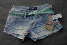 NWT Angels Cut-Off Hipster Mini Shorts with Studded Belt & Frayed Cuffs Size 3