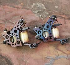 custom coil tattoo machine gun handmade cast iron frame set liner and shader