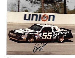 Autographed Benny Parsons NASCAR Auto Racing Photograph