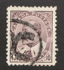 #93i - Canada - 1903  -  10 Cent - Used - F -  superfleas