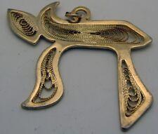 Gold Plated & Filigree Chai Charm / Pendant