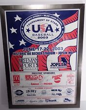 2003 USA BASEBALL 18U NATIONAL TEAM SIGNED AUTOGRAPHED FRAMED POSTER WITH COA