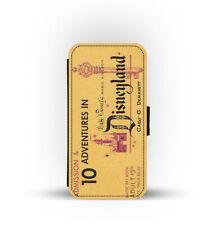 Carte Fente Style Portefeuille Étui de Téléphone Admit Un Disneyland Billet Pass