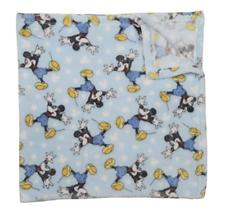 Mickey Mouse Baby Boy Fleece Blanket Disney NWT Baby Shower Gift Lt. Blue