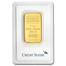 1 oz Credit Suisse Gold Bar .9999 Fine in Assay Card - SKU #132933