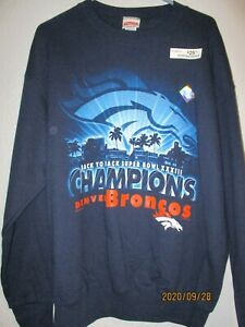 1999 Denver Broncos Super Bowl  XXXIII 33 Champions Sweatshirt Large NWT