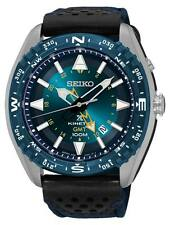 Seiko Prospex SUN059 Men's Kinetic Leather Band Blue Dial GMT Analog Watch