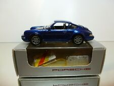 NZG MODELLE 348 PORSCHE 911 CARRERA 2/4 - BLUE METALLIC 1:43 - VERY GOOD IN BOX