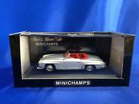 Minichamps 1/43 Mercedes 190 SL Cabriolet Silver 430033131 19955-62 tracking