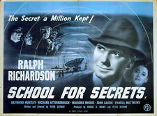 SCHOOL FOR SECRETS 1946 Ralph Richardson Peter Ustinov UK QUAD POSTER
