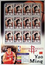 2004 MNH SIERRA LEONE YAO MING STAMP SHEET HOUSTON ROCKETS NBA BASKETBALL SPORTS