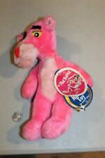 """Pink Panther Plush Stuffed Animal 11"""" Mighty Star musical Vintage 1980 w/Tags"""