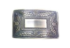 New Mens Scottish four thistles Kilt Belt Buckle for men kilts chrome belts