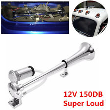 150db Super Loud Single Trumpet Air Horn For Car Truck Mega Van w 12V Compressor