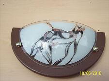 Wandlampe E 27 Braun mit Glas