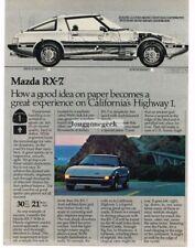 1982 Mazda RX-7 Silver Vtg Print Ad