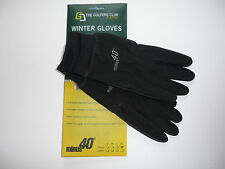 1 Paar minus 40 Grad Winter Golfhandschuhe GC Collection warm Windfest schwarz M