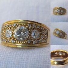 Anello in Oro 18 Kt con Diamanti Taglio Antico