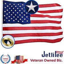 2x3 ft USA American Flag Embroidered Stars Sewn Stripes Grommets Nylon US U.S.