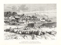Antique Print-LEBANON-RACHAYA-MOUNT HERMON-Reclus-Taylor-1884