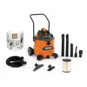 NEW RIDGID 16 Gallon 6.5-Peak HP NXT Wet/Dry Shop Vacuum with Cart, Fine Dust