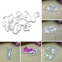 Cat Shape Metal Cutting Dies Stencil DIY Scrapbooking Album Decor Stamp S1V5
