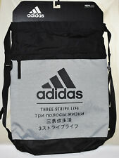 New Adidas Amplifier Blocked Drawstring Backpack Sackpack - Grey/Black