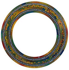 Zorigs Mirror Wall Art Décor – Handcrafted Decorative Wall Mirror, Autumn Green