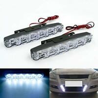 2X 12V 6 LED Daytime Running Lights DRL Car Fog Day Driving Universal White Lamp