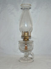 ANTIQUE 1870 OIL GUARD LAMP EAPG PATTERN GLASS KEROSENE OIL FINGER LAMP LOMAX