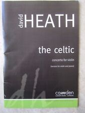 The Celtic Violin Concerto by Heath with Piano*NEW*  Camden Music Publication