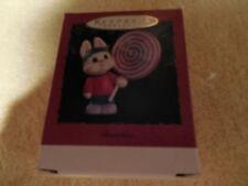 "NIB Hallmark Xmas Ornament GRANDSON ""Grandson Your A Treat"" Bunny/Lollipop 1995"