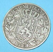5 Franchi Belgi LEOPOLDO II 1875 - Argentto - Molto Bella!!!!!!- nr 601