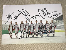 Toyota Team WEC 2017 Le Mans ALL 9 Drivers Signed 20x30 Photo Foto ***TOP***