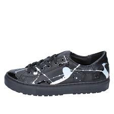 women's shoes D.A.T.E. date 7 (EU 38) sneakers black vintage leather AB561-38