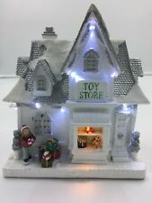 Christmas Display Decoration LED Lit Snow Christmas Toy Shop for village