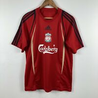 Liverpool Football Jersey Mens Size Medium Adidas 2008/2009 Era Carlsberg