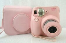 Fuji Instax Mini 7S Fujifilm Instant Film Camera Pink With Carry Case