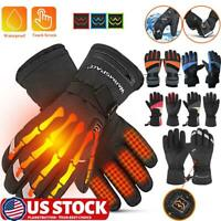 Winter Motorcycle Motorbike Heated Glove Warm USB Electric Waterproof Ski Gloves