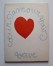 revue VERVE couv. de MATISSE Coeur d'Amour épris Imp Draeger Tériade