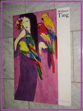 """XXe VINTAGE : Poster WALASSA TING : """"CHINOISE MAUVE"""" par éditeur YVES RIVIERE."""