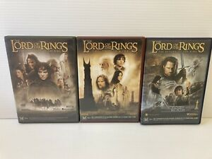 The Lord Of The Rings Complete Trilogy (Region 4, 6 Disc DVD Set) *Free Postage*