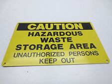 """Industrial 8-1/2in x 14in """"CAUTION"""" Sign Steel Sheet Metal Painted (2pk)"""