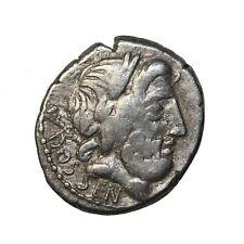 Roman Coin Ancient Republic L. Rubrius Dossenus 87 Bc Silver Denarius