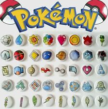 """40 1"""" Pokemon Gym Badges ALL badges from ALL games buttons pinback badges"""