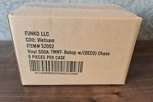Funko Pop Soda TMNT BEBOP & GUARANTEED DECO CHASE (FULL CASE x6 Cans) Vinyl Figs
