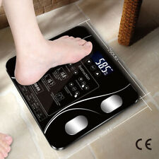 Digital Scale 180kg Body Fat Water Bone Calories BMI Analyser Glass Bathroom USB