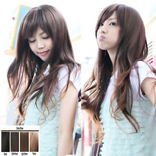 Fashion Korean Wig Long Fluffy Straight Silky Synthetic Hair Cosplay Casual Wig